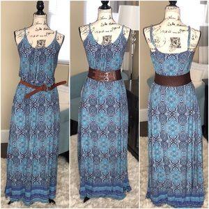 Cynthia Rowley Spaghetti Strap Maxi Dress (EUC)
